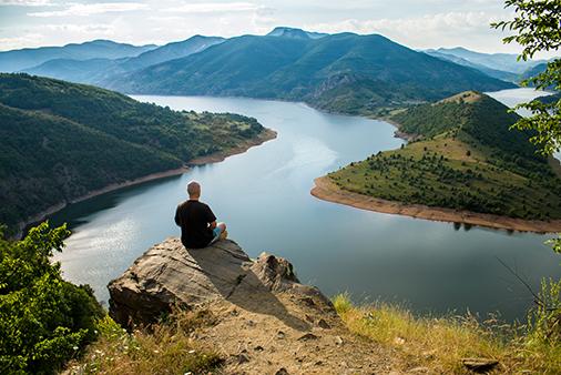 meditating mountain top
